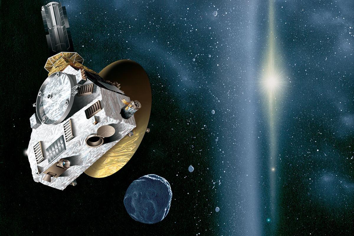 Artist's impression of the New Horizons probe encountering a Kuiper Belt object (Image: JHUAPL/SwRI)