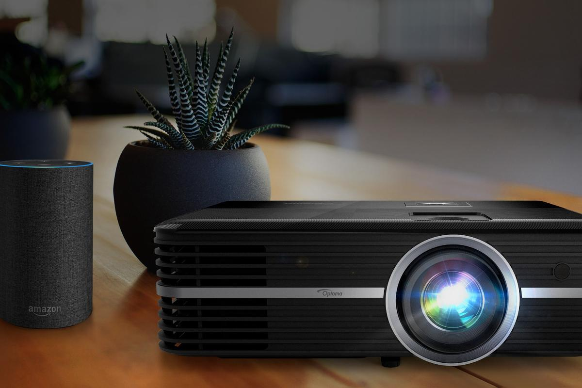 The UHD51A 4K home theater projector from Optoma has Amazon's Alexa on hand to help with voice-controlled setup and play