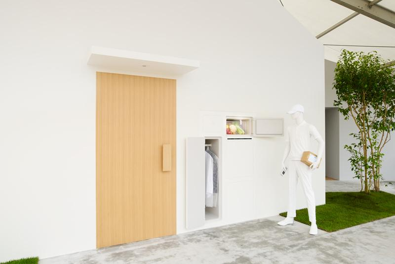 """What if we can make a house with a refrigerator that can be accessed from outside?"" asks Yamato Holdings and Fumie Shibata with The House with Refrigerator Access from Outside"
