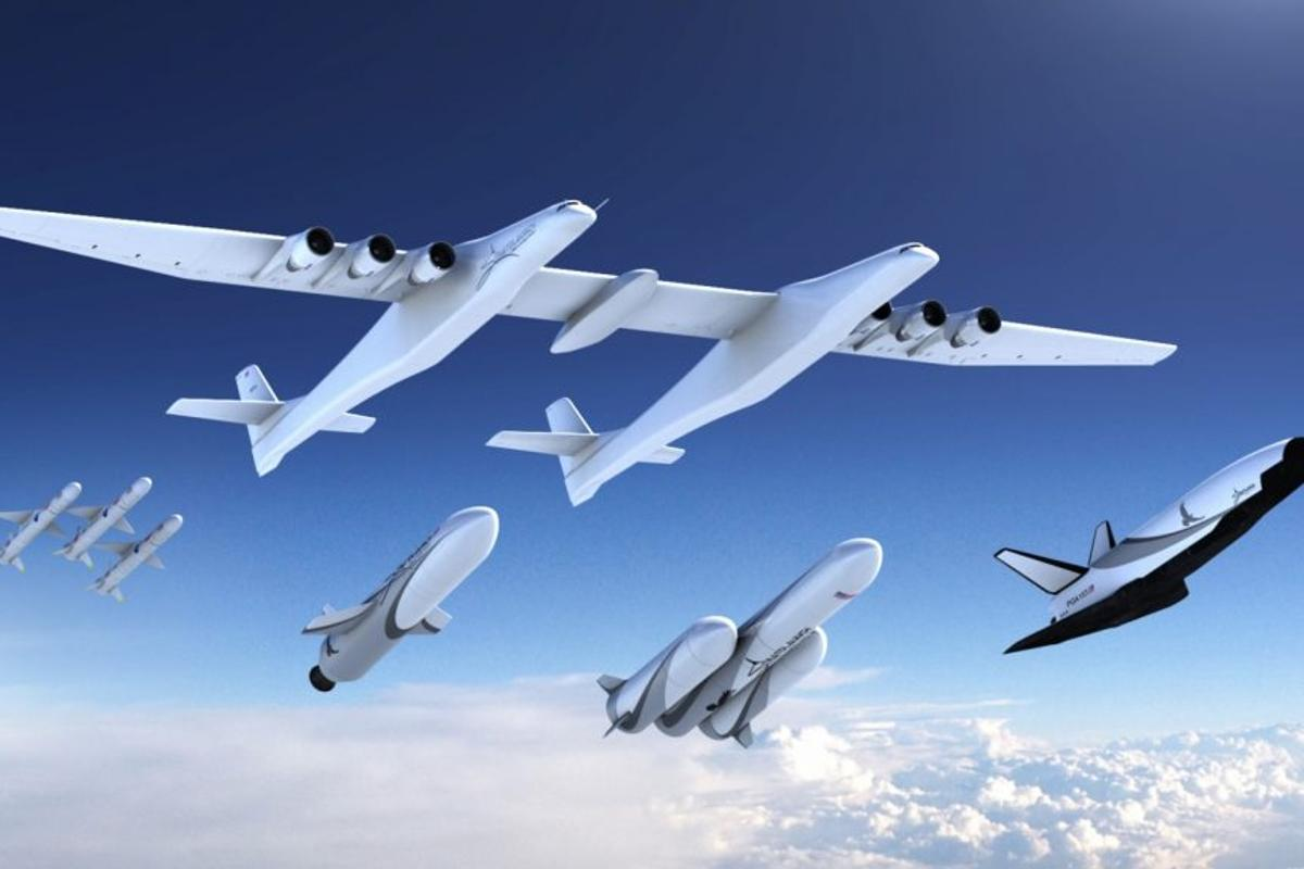 Artist's concept of the Stratolaunch family of boosters