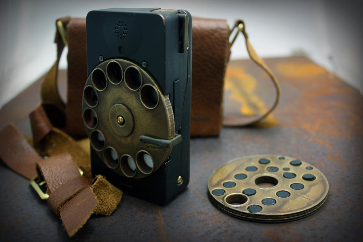 The Rotary Mechanical Smartphone has all the features of a regular smartphone, but it resembles a vintage rotary dial telephone (Photo: Richard Clarkson)
