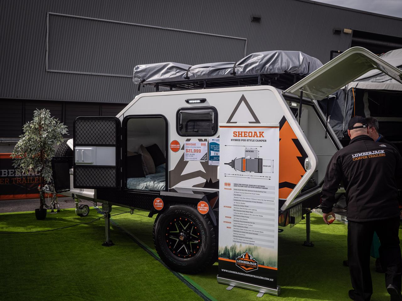 Lumberjack introduced the Sheoak earlier this year and shows it here at the National 4x4 and Outdoors Show in Melbourne, Australia