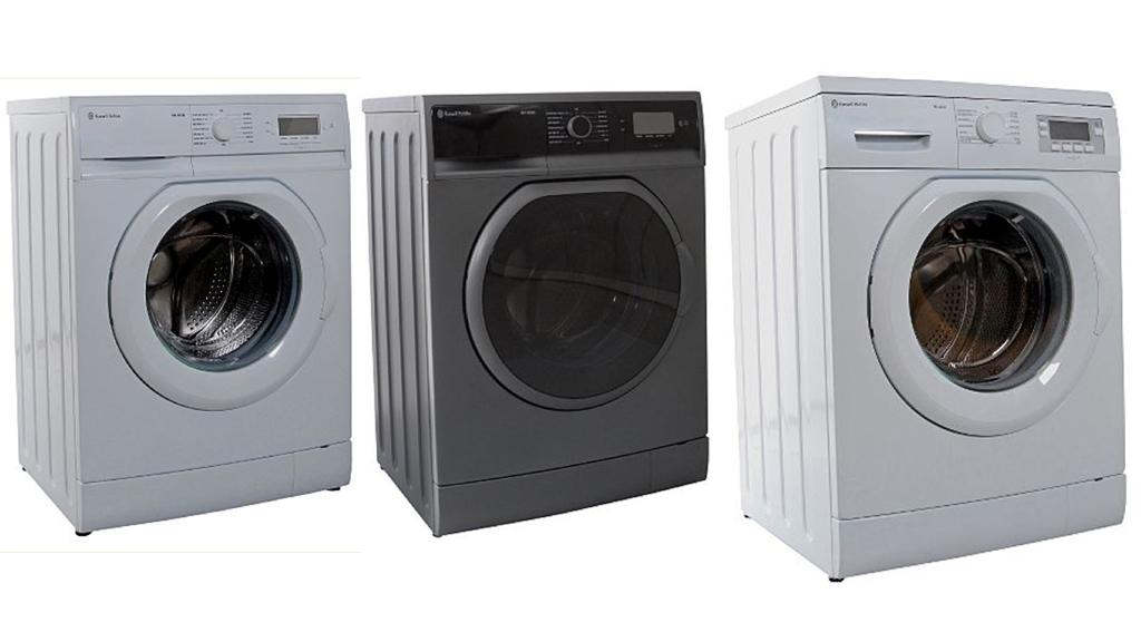The Russell Hobbs washing machines offering a 12 minute cycle - 7kg white and graphite models and 9kg white model