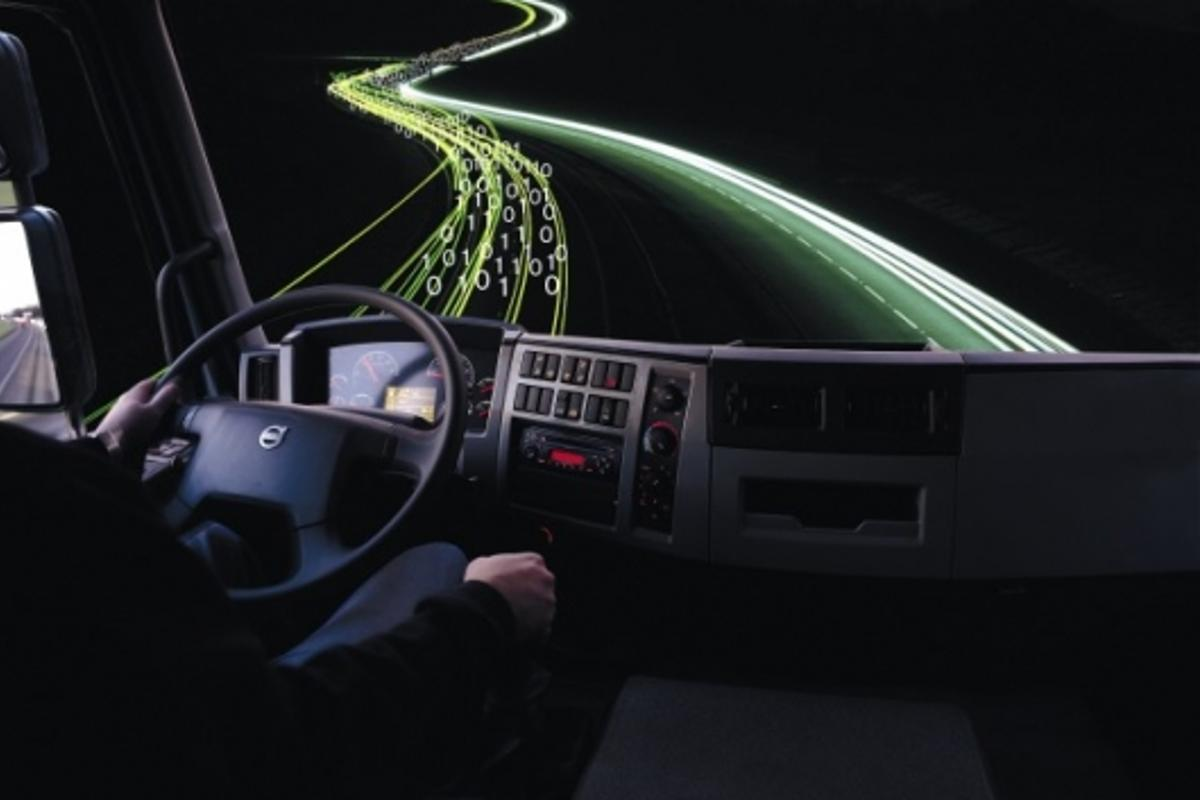 The truck of the future could have an on-board digital co-driver that can even take over if the driver loses control