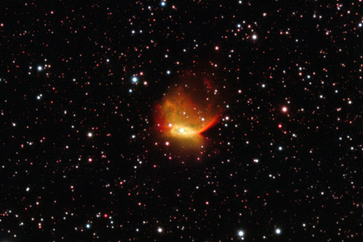 The planetary nebula Henize 2-428 as seen by the ESO's Very Large Telescope at the Paranal Observatory in Chile (Image: ESO)