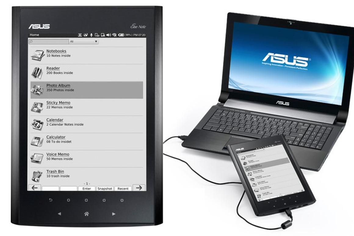 ASUS has revealed the specifications of its new notepad/e-Reader - the Eee Note EA800