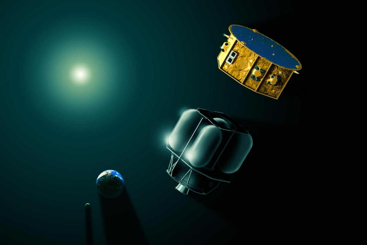 The LISA Pathfinder is composed of a science and propulsion module (Image: Airbus)