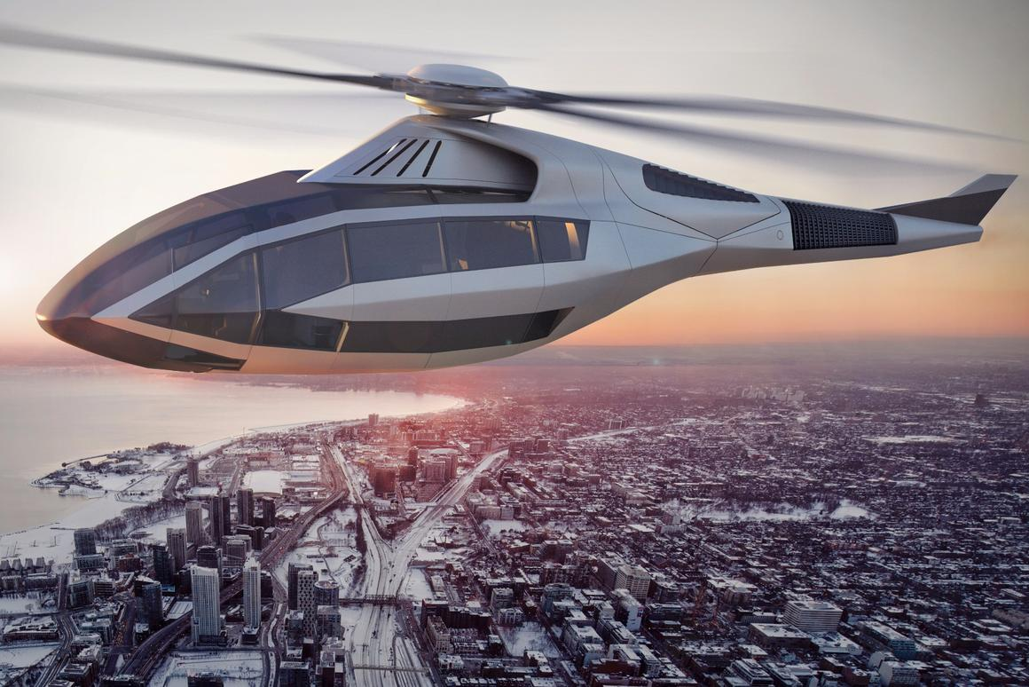 Artist's impression of the Bell FCX-001 concept rotorcraft