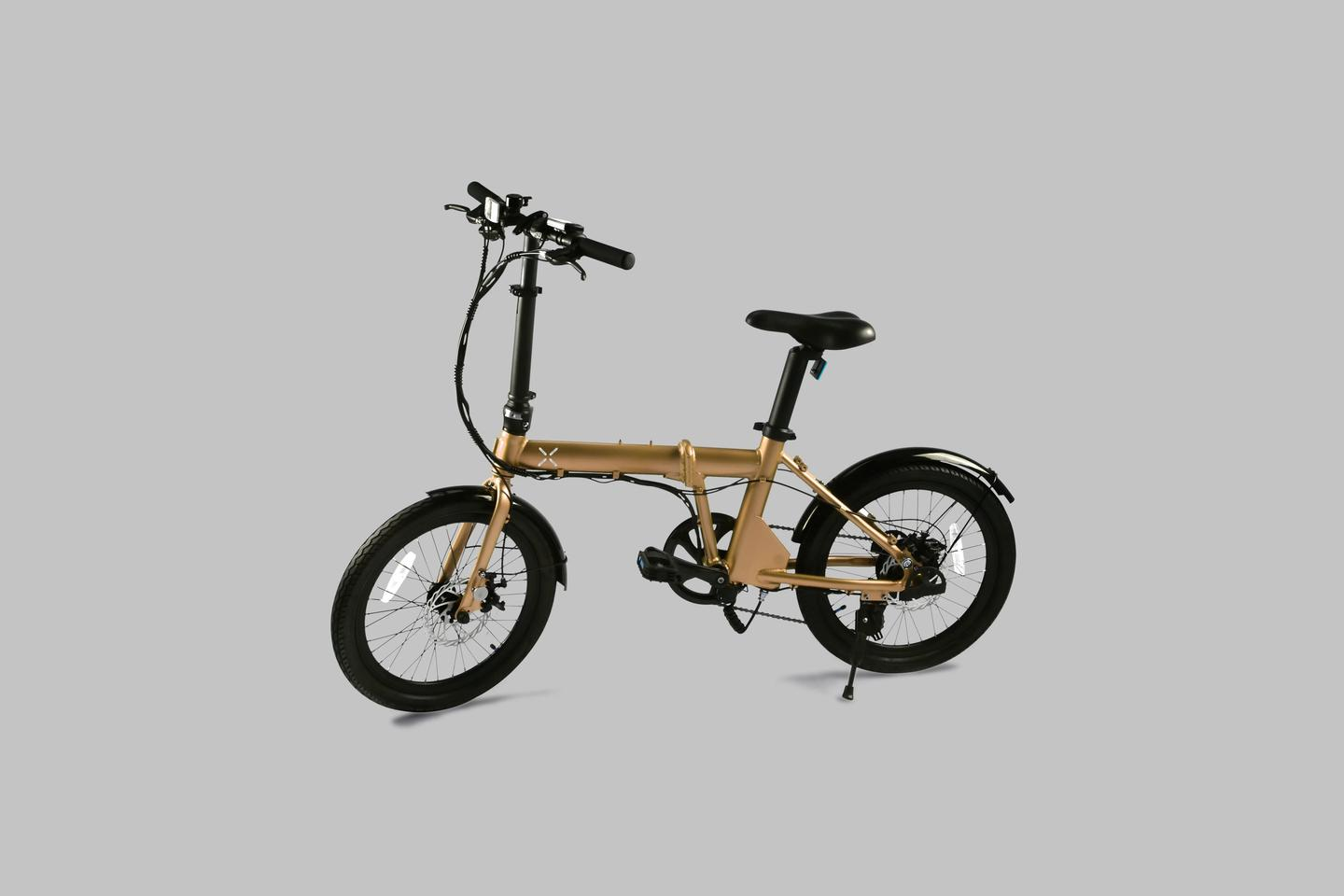 The H1 folding ebike is quoted as having a top speed of 15 mph