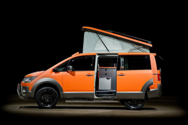 Mitsubishi D:5 Terrain 4x4 camper van nimbly explores rugged