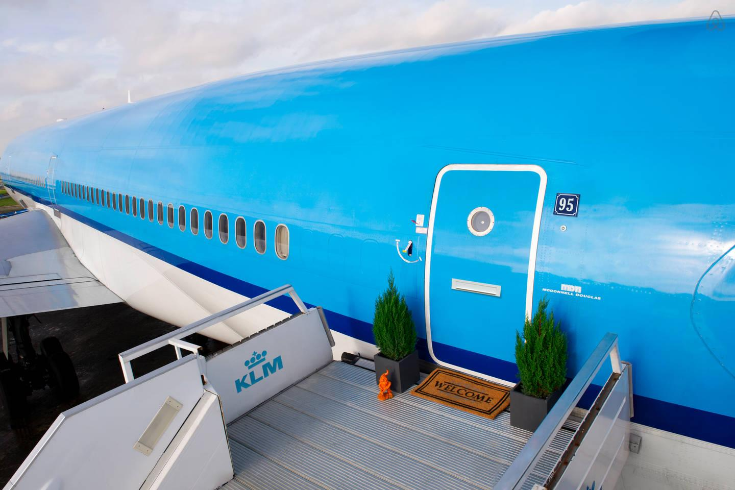 KLM has transformed one its grounded McDonnell Douglas MD-11 aircraft into a luxurious apartment