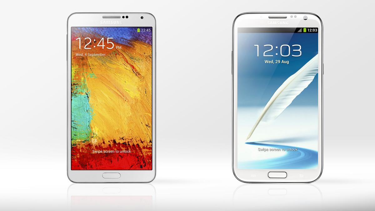 Gizmag compares the new Galaxy Note 3 with its predecessor, the Galaxy Note 2