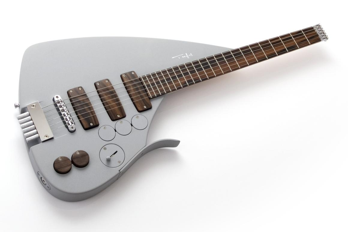 German luthier Ulrich Teuffel demonstrated a new Tesla Prodigy guitar at the recent Summer NAMM in Nashville