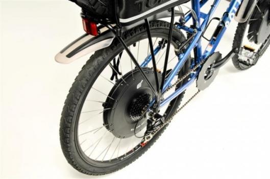 Rear wheel mounted hub motor