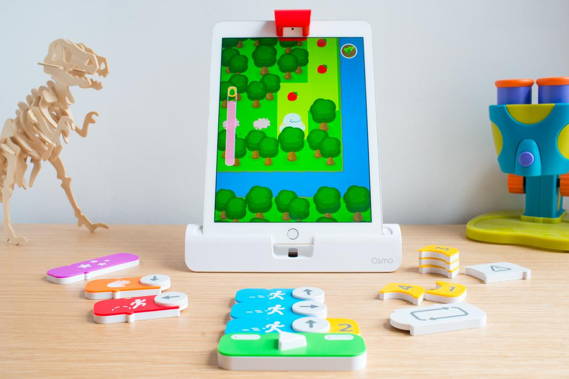 We had fun playing with the Osmo Coding iPad game which teaches kids about logic and problem solving