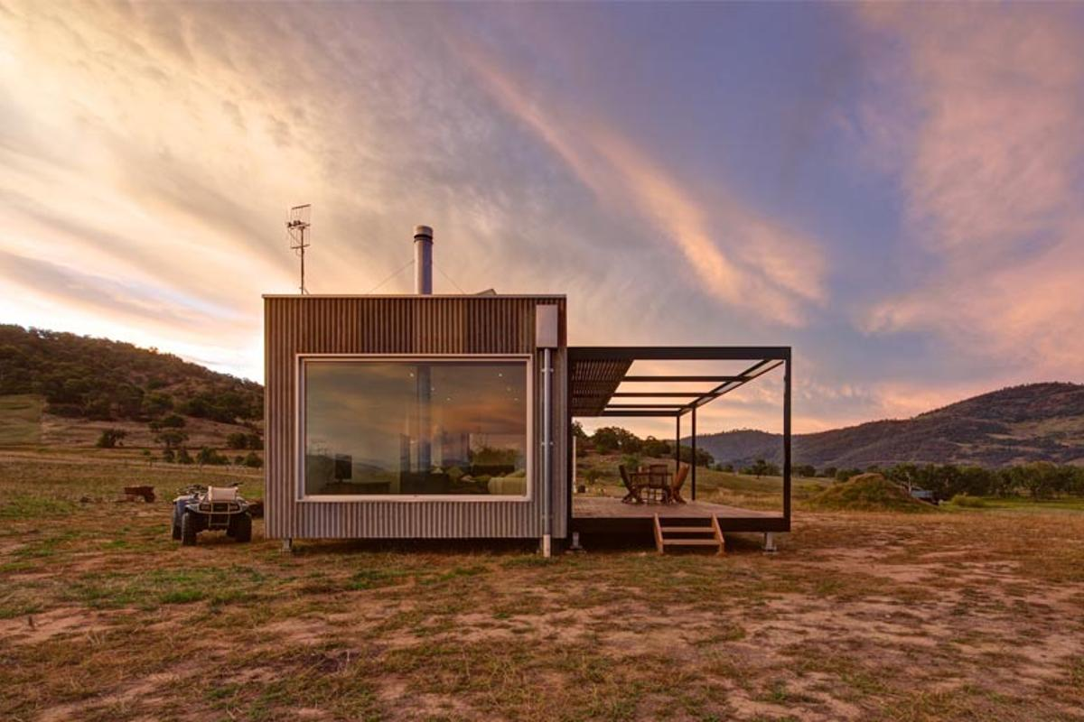 Melbourne-based architectural studio Modscape has created a modern off-the-grid home that took twelve weeks to complete