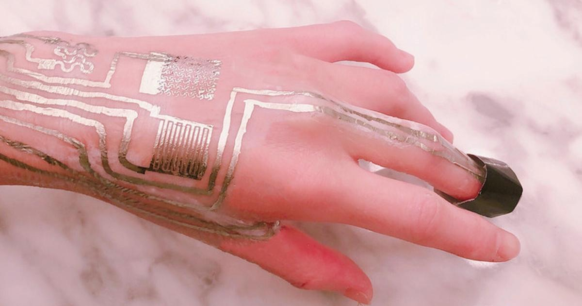 Wearable sensors can be printed directly onto skin at room temperature