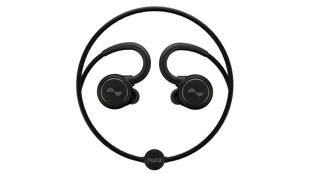 The Nuraloop hearing-adaptive earphones, seen earlier this year at CES
