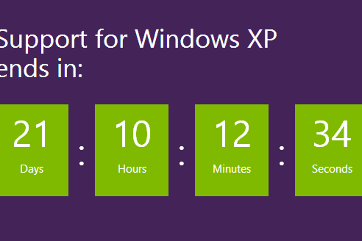 Microsoft is ceasing support for Windows XP on April 8th so it's time to consider your options