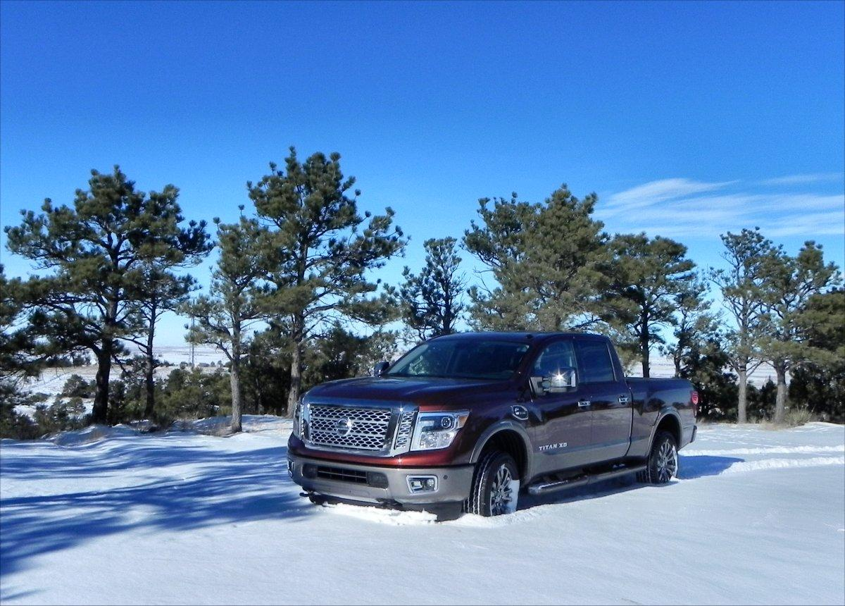 The Titan XD has a hauling capacity of up to 2,091 pounds and towing of up to 12,314 pounds (948 and 5,585 kilos)
