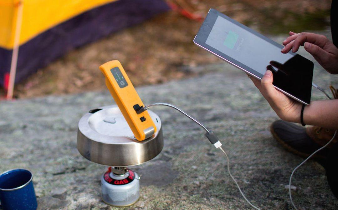 The BioLite KettleCharge uses energy gathered from boiling water to charge devices off the grid