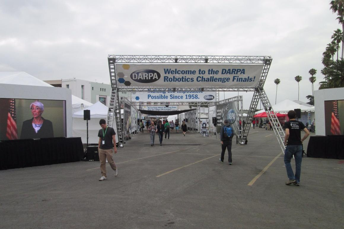 The exhibition was part of the 2015 DARPA Robotics Challenge Final