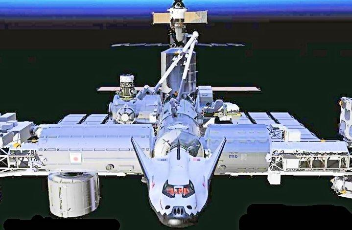 Artist's conception of the Dream Chaser linked up with the International Space Station (Photo: Sierra Nevada)
