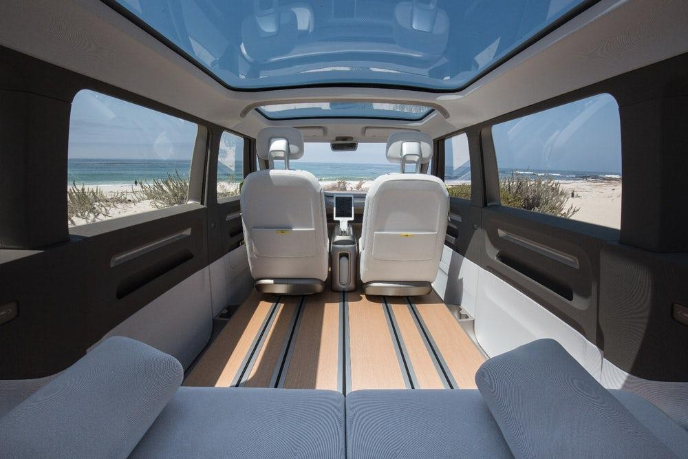 Interior of Volkswagen's forthcoming I.D. Buzz van, which will feature Nvidia tech to power its autonomous systems
