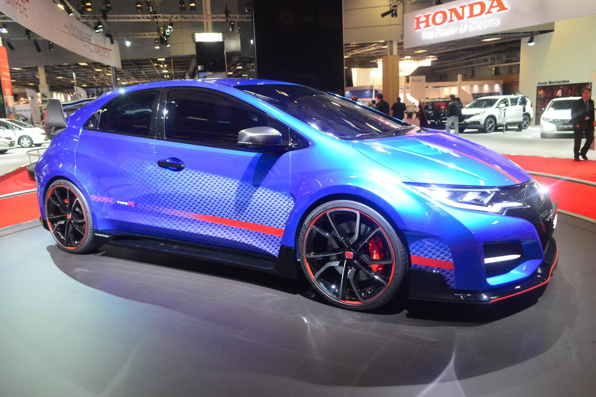 The Honda 2015 Civic Type R at the Paris Motor Show (Photo: C C Weiss/Gizmag)