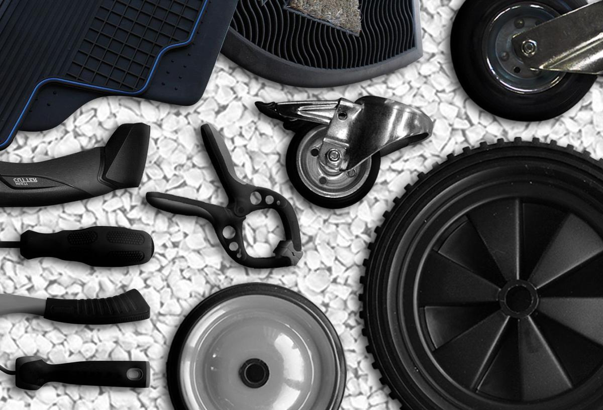 Researchers have developed a new material called EPMT which is made up of up to 80 percent scrap rubber and has the desired material properties and characteristics for use in the manufacture of high quality primary products