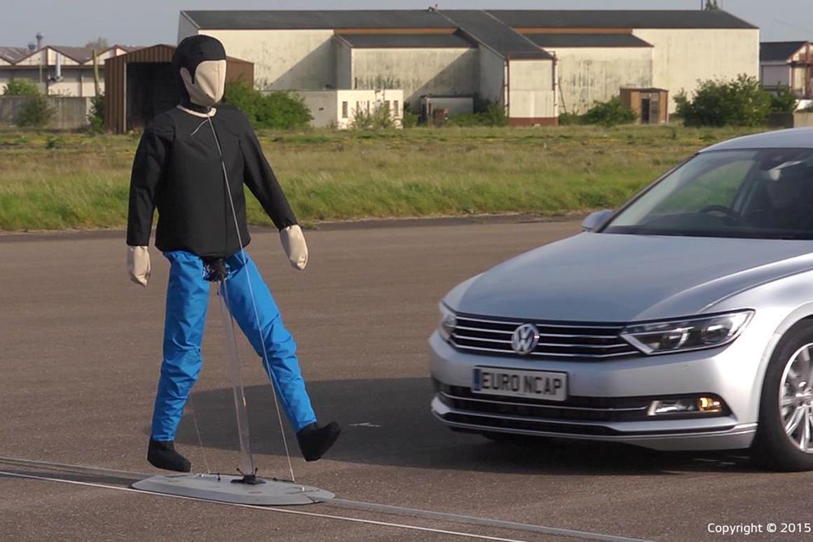 Euro NCAP's new Autonomous Emergency Braking (AEB) Pedestrian tests utilize life-like, moving dummies in a controlled environment