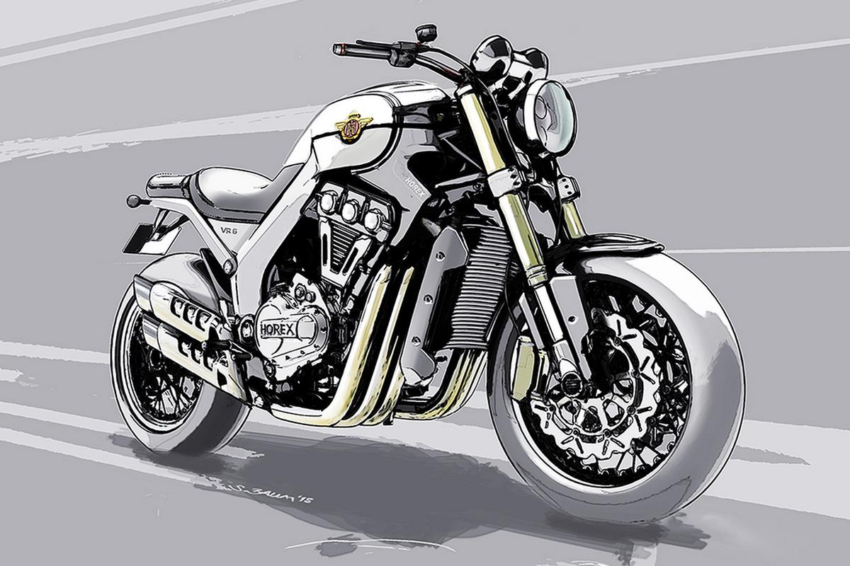 The sketch of the new VR6 gives us a taste of what to expect from Horex at EICMA