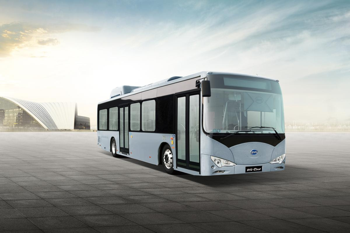 Thirty-five BYD electric buses are headed for Amsterdam Airport Schiphol