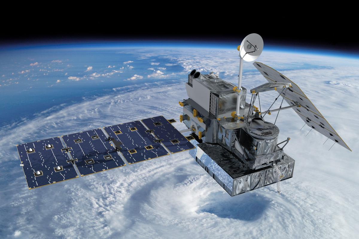 Artist's impression of the GPM satellite (Image: NASA/Britt Griswold)