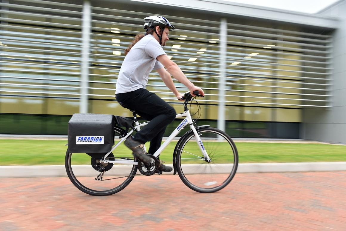 The e-bike, with its sodium-ion battery pack
