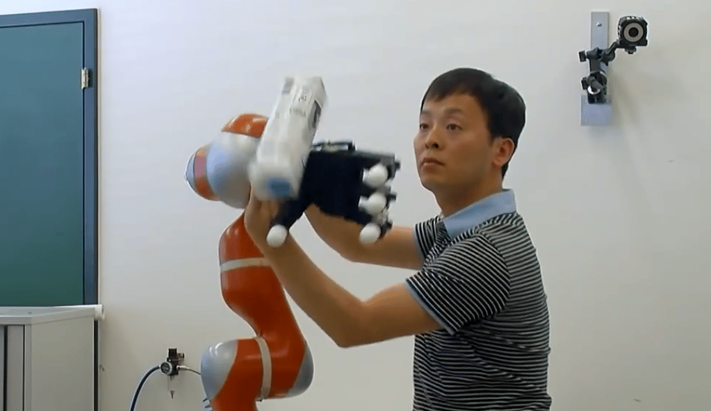 "The team used a method known as ""programming by instruction"" to teach the robot how to catch"