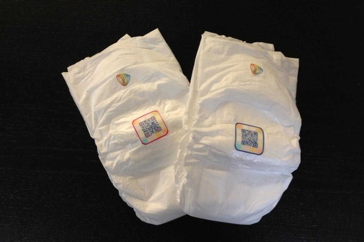 Smart Diapers feature a panel containing several non-toxic test strips to monitor irregularities in an infant's urine