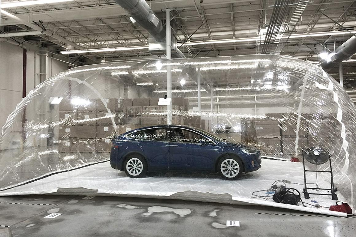 Tesla put Bioweapon Defense Mode to the test in a controlled pollution bubble