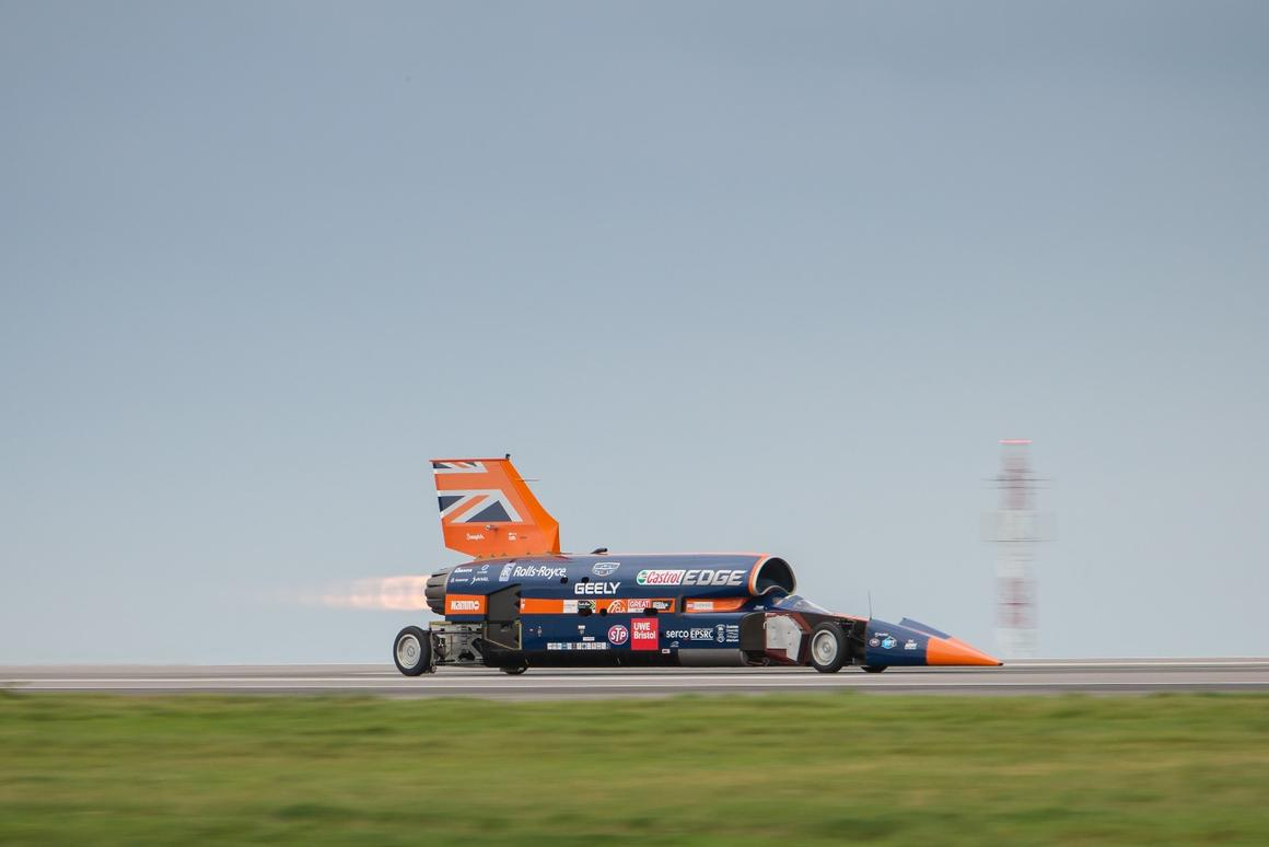 After nearly ten years of development the Bloodhound finally hit the tarmac