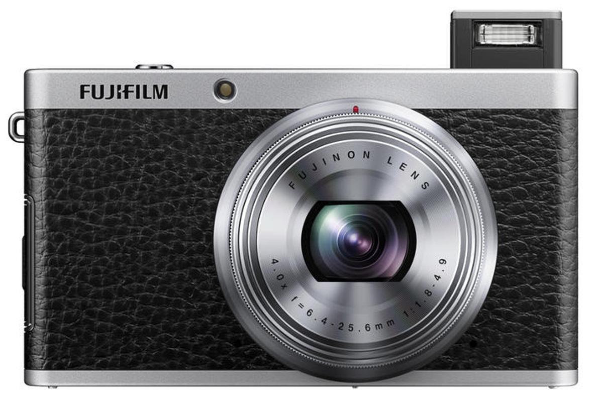 The Fujifilm XF1 has a 12 megapixel 2/3-inch EXR-CMOS sensor