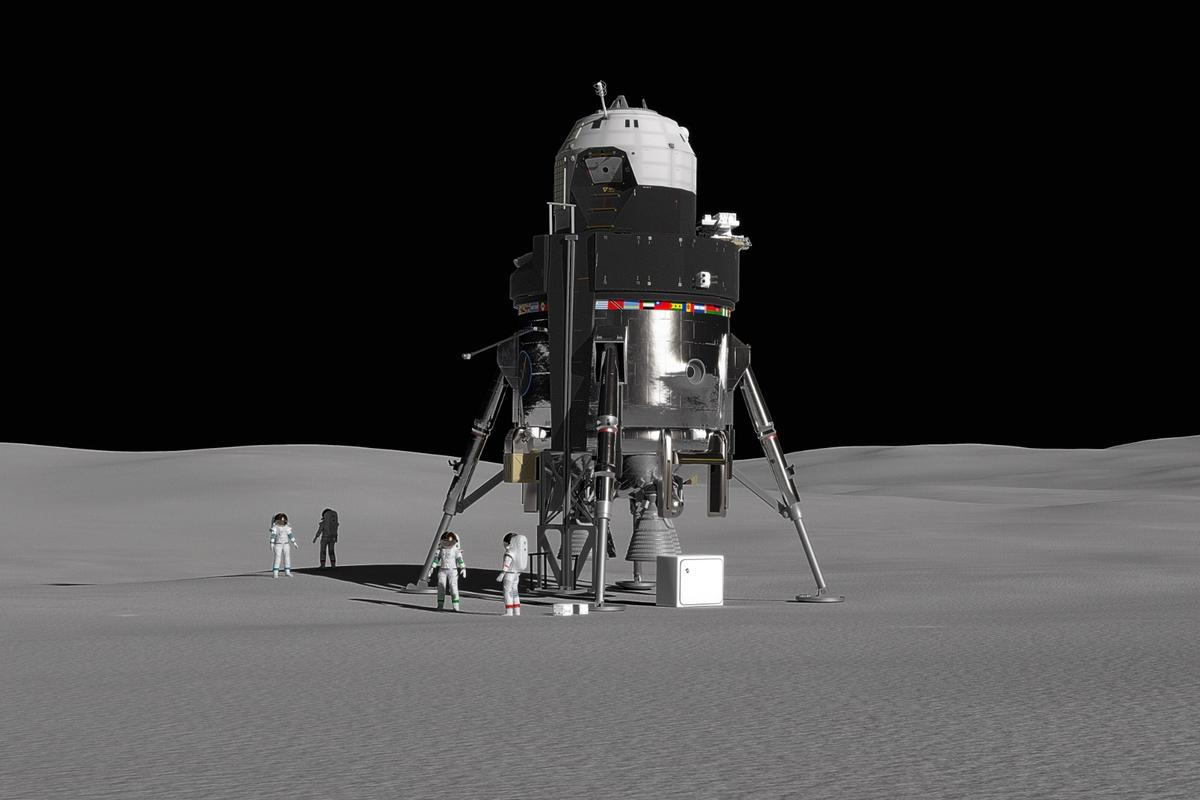 Concept of a manned lunar lander from Lockheed Martin