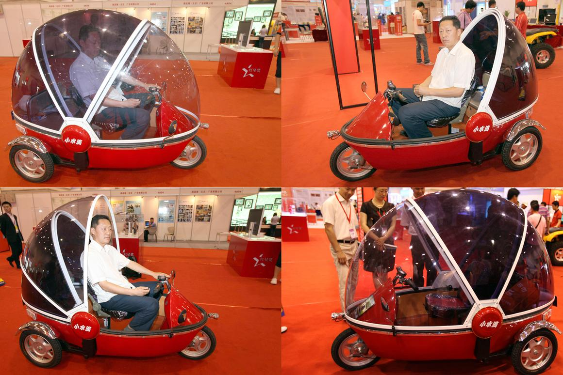 The US$750 Bubble Bike urban commuter recharges from a domestic power point
