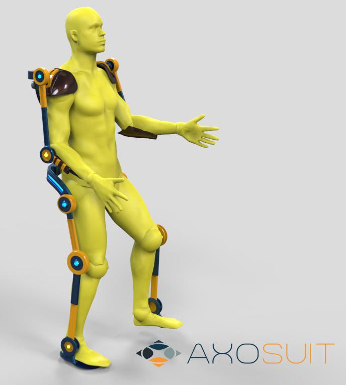 Motors in the AXO Suit would provide a power boost to the wearer's arm and leg movements
