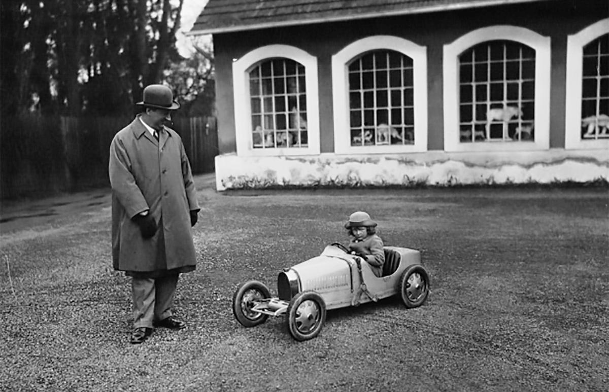 In 1926, Ettore Bugatti made a half-scale Type 35 roadster for his son Roland's fourth birthday