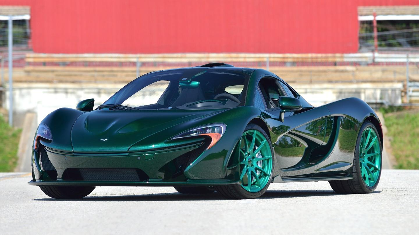 This 2014 McLaren P1 boasts Serial no. #02 (the earliest P1 serial number offered to the public), and was estimated to sell for between $2,500,000 and $3,000,000. The original car was sent back to McLaren to be refitted with an exposed carbon fiber body, and this sale included the original painted body too. The 900 horsepower hybrid had only 576 miles on the clock when it sold for $2,035,000 at Mecum Auctions