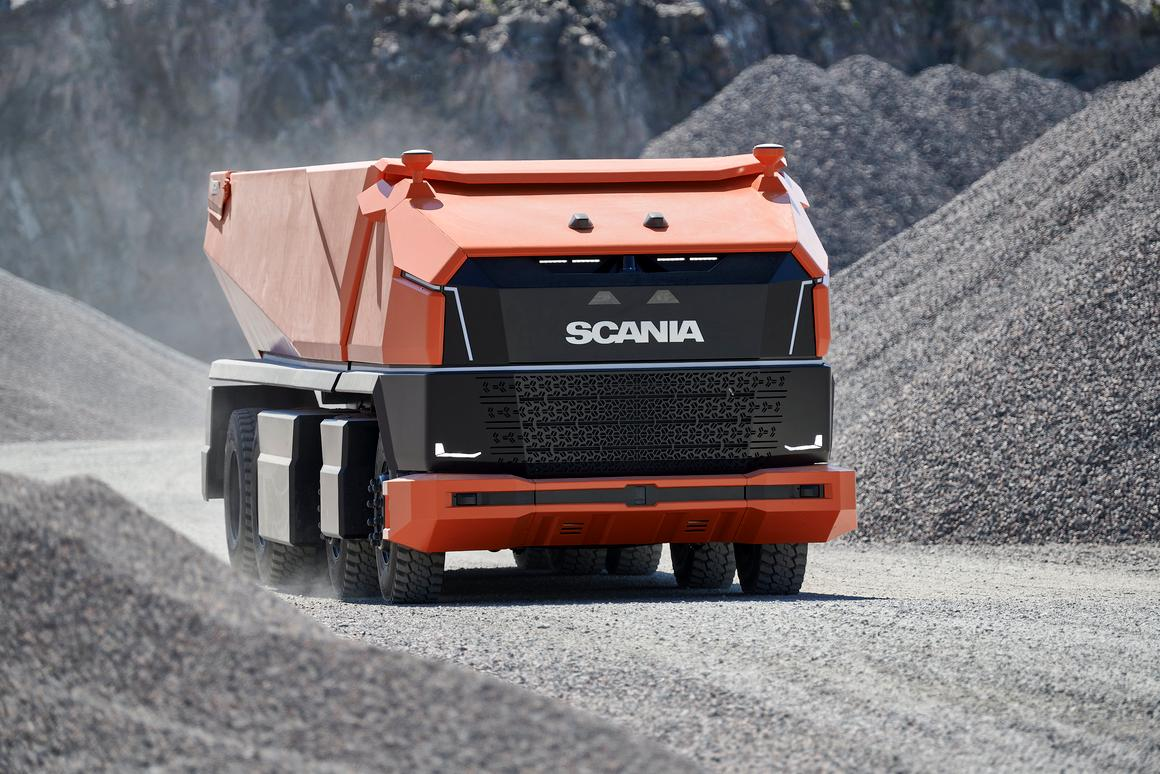 Scania's AXL concept provides a preview of the driverless mining truck of the future