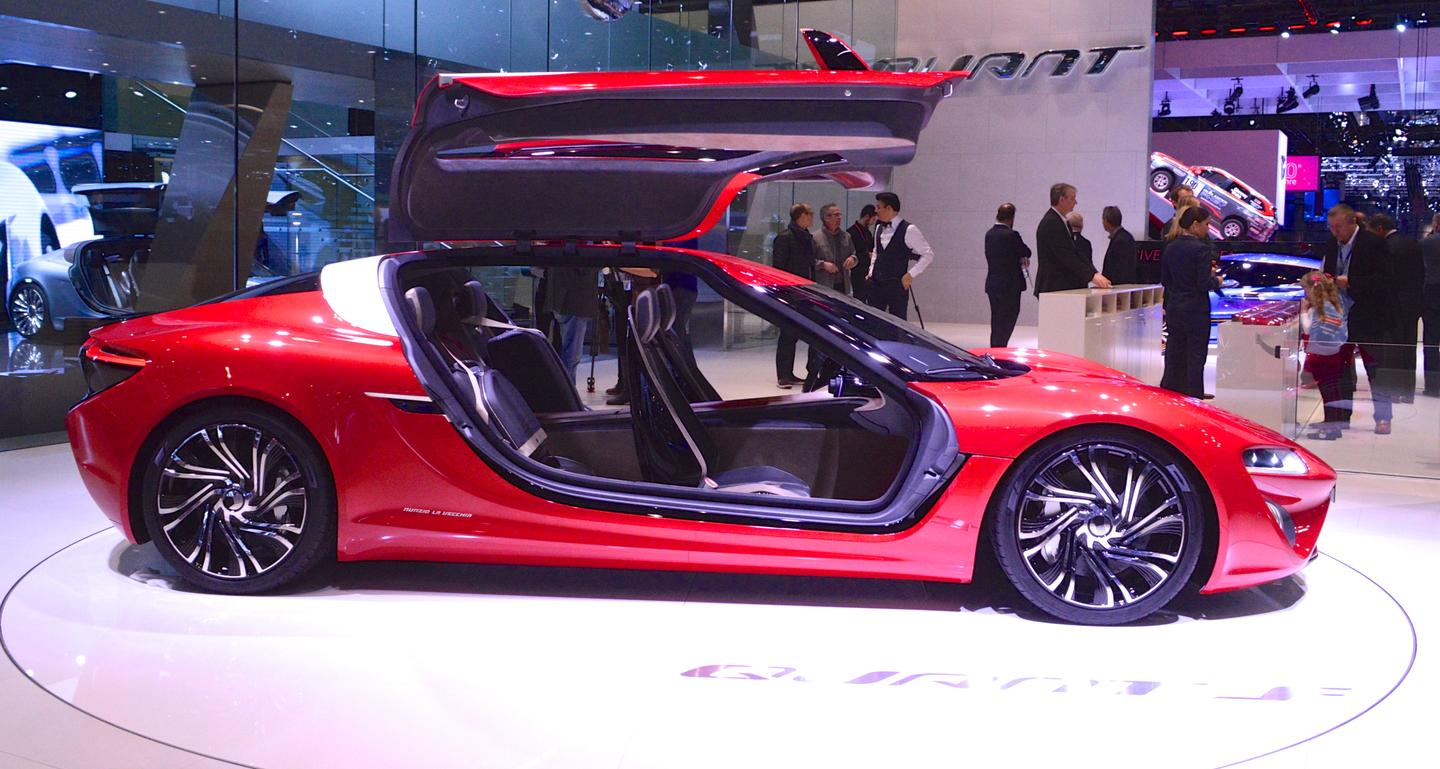 Like the original Quant E, the Quant F features large gullwing doors (Photo: C.C. Weiss/Gizmag.com)