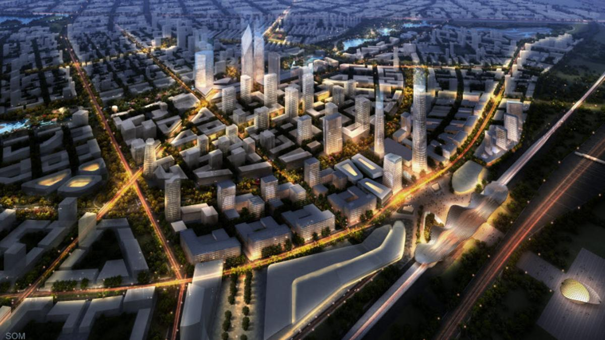 Architectural practice SOM's 17.6-sq km (6.8-sq mile) master plan for Beijing Bohai Innovation City has won an international design competition, which, if fully realized, may set a new standard for environmentally-conscious urban planning