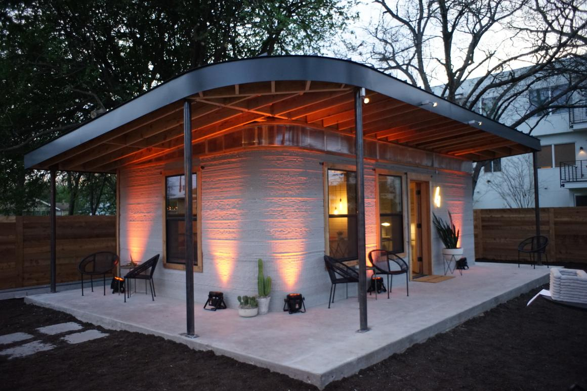 The 3D-printed home currently costs US$10,000 to produce but New Story and Icon aim to reduce this to $4,000