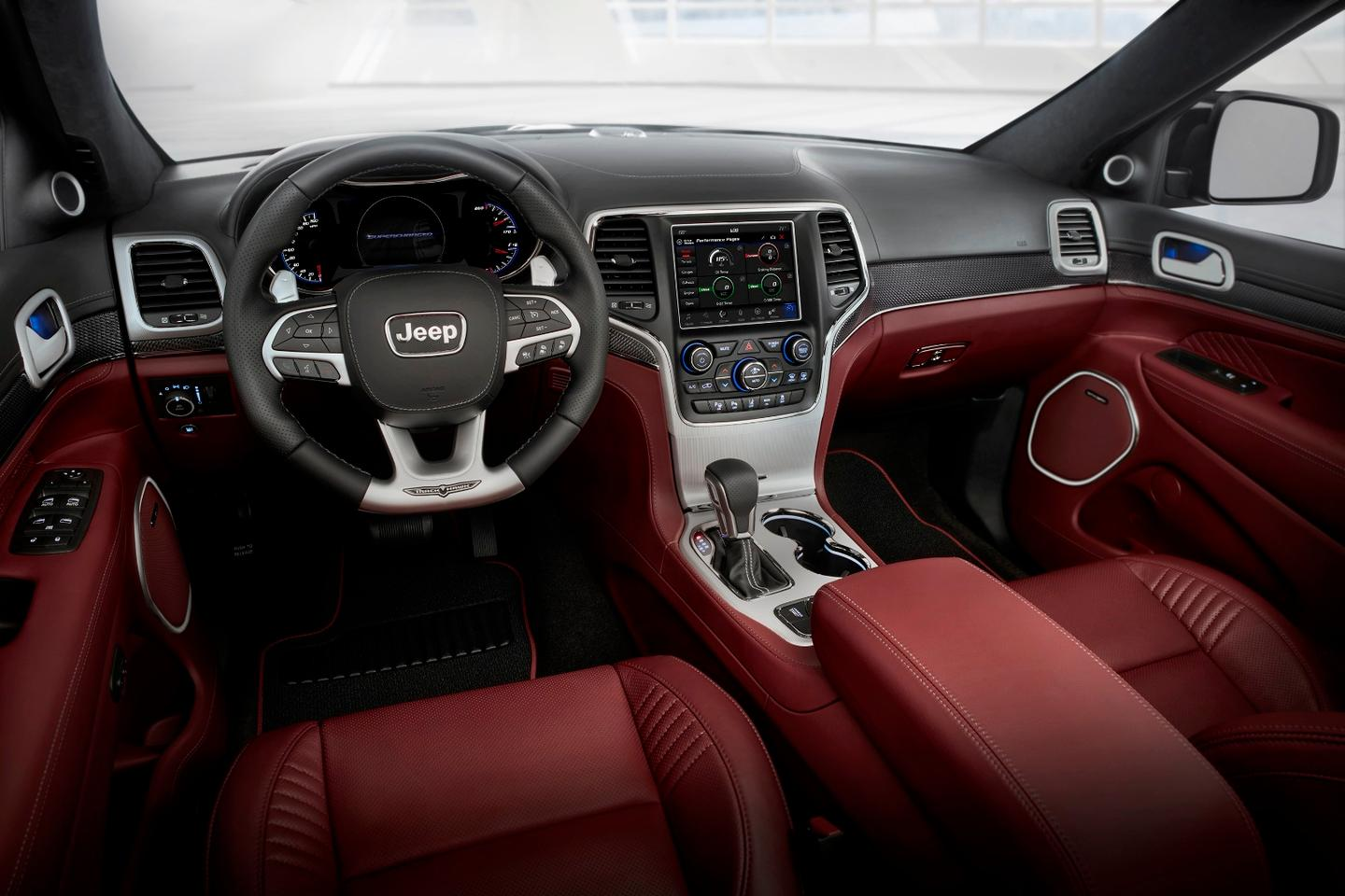 Behind the wheel of theJeep Grand Cherokee Trackhawk